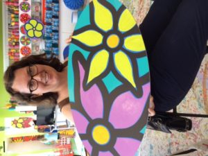 Friend Mary with Finished Piece